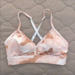 Forever 21 sports bra army pink camo size xs